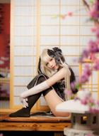 好美的旗袍~=缘之空=春日野穹 黑旗袍cosplay