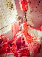 嫁衣都准备好了,锦衣如花的美人,洛天依落花霁婚服