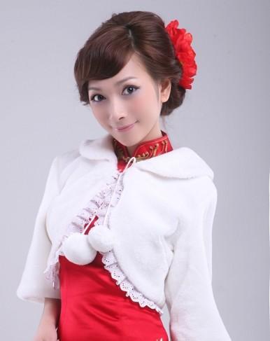 网游美女刘诗涵红馆旗袍