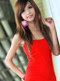 红裙超S身材模特琳琳
