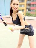 网球宝贝拍盛夏清凉运动写真