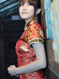 旗袍美女小米尽显东方魅力
